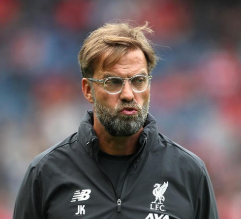 Liverpool manager Jurgen Klopp during the pre-season friendly match at BT Murrayfield, Edinburgh.