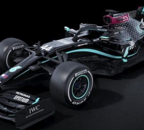 Mercedes running All-Black Car for 2020
