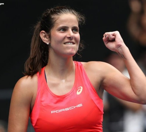 Julia Goerges Hanging Racket, This Is A Message From Fellow Tennis Players