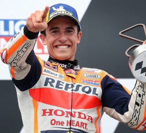 Marc Marquez after winning the MotoGP series again, between mental and rain