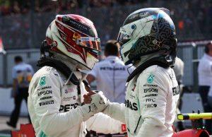 Hamilton and Bottas at Monza