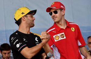 Ricciardo and Vettel F1