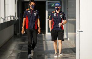 Albon adn Verstappen at Red Bull