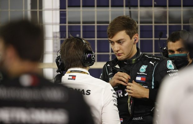 Russell short trip to Mercedes