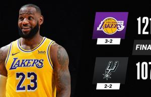 NBA: Lakers Beat Spurs 121-107