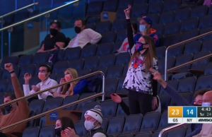 New York Knicks Fans Return to Madison Square Garden Arena