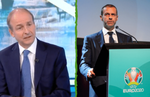 Irish Prime Minister Hits Out at UEFA after losing Euro 2020 Matches in Dublin
