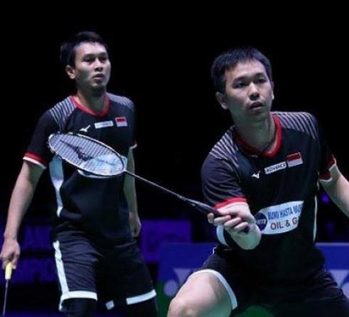 Ahsan/Hendra Mengalahkan Ganda Malaysia Pada Babak Pertama Denmark Open 2019
