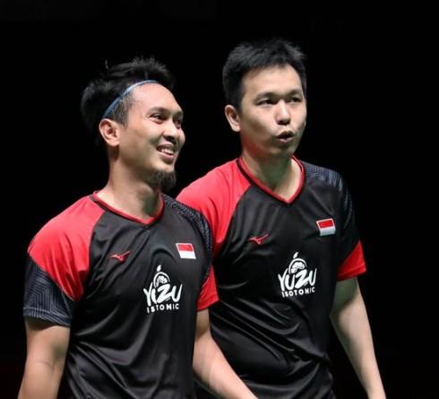 Ahsan/Hendra Lolos ke 16 Besar Thailand Open 2021