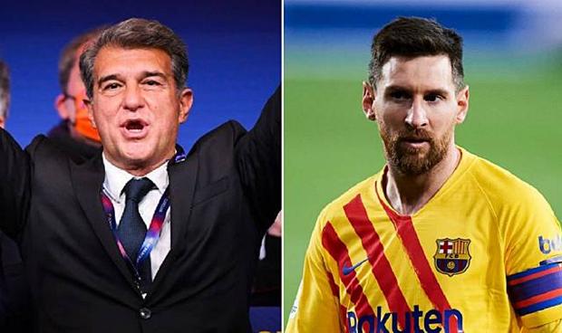 Laporta Yakin Messi Bertahan di Barcelona